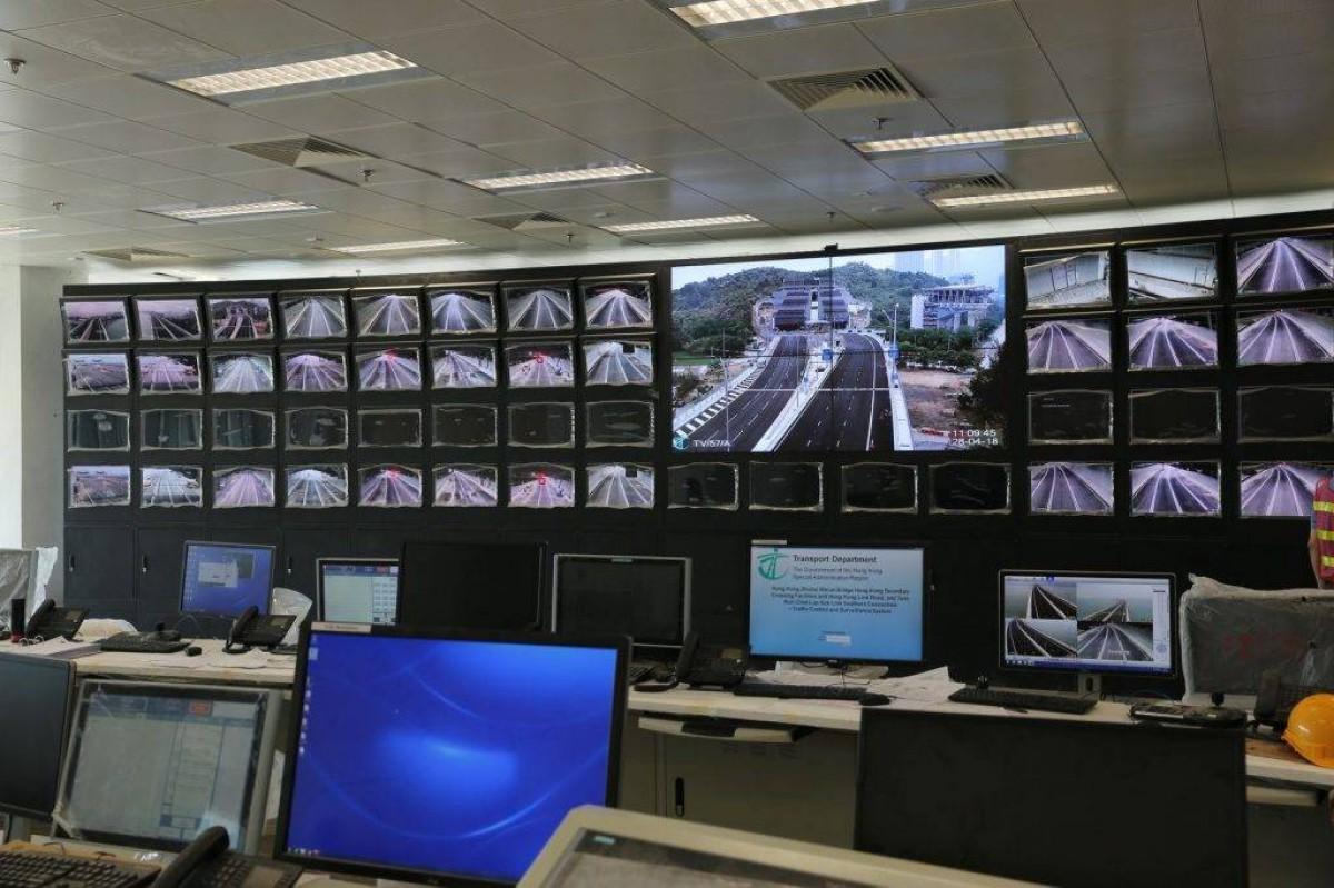 港珠澳大桥控制室